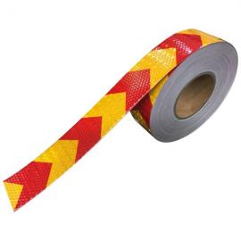 نوار شبرنگ هشدار زرد قرمز 5 سانتي متر
